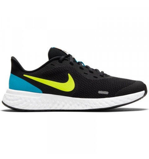 Nike Revolution 5 GS Negra-Limón