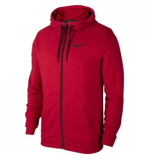 Sudadera Nike M Dry Hoodie FZ Fleece Granate
