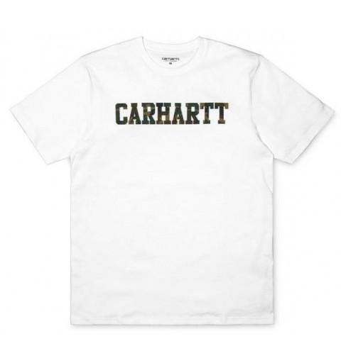 Camiseta Carhartt College White/Camo