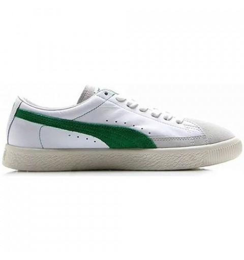 Puma Basket 90680 White-Amazon Green
