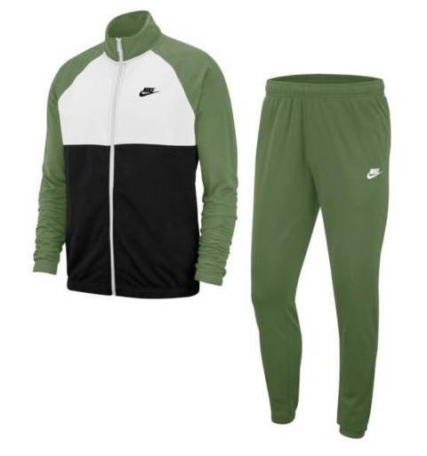 Chandal Nike M NSW Verde-Blanco-Negro