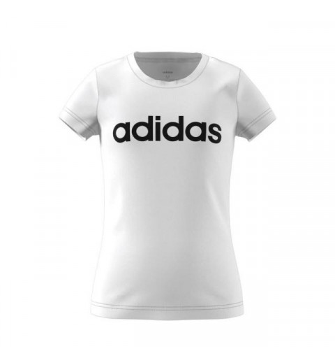 Camiseta Adidas Niña Essentials Linear Blanca