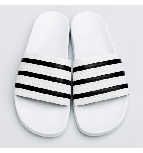 Chancla Adidas Adilette Blanca-Negra