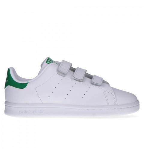 Adidas Stan Smith Velcro Blanca-Verde