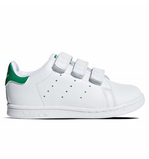 Adidas Stan Smith Velcro Infant Blanca-Verde