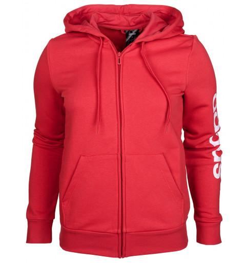 Sudadera Adidas Mujer Essentials Capucha Roja