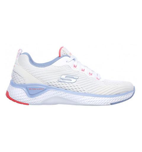 Skechers Solar Fuse Blanca-Blue-Pink