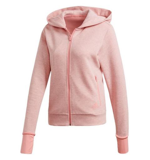 Sudadera Adidas Mujer Versatility Capucha Rosa