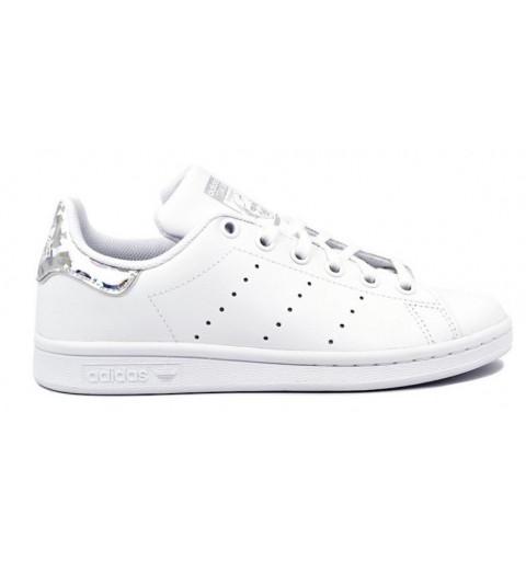 Adidas Stan Smith J Blanca-Plata