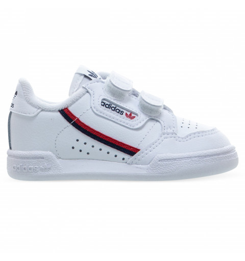 Adidas Continental 80 Infantil Velcro Blanca