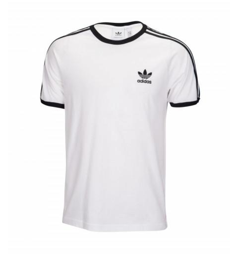 Camiseta Adidas 3-Stripes Blanca-Negra