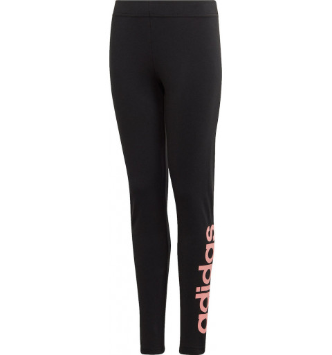 Leggin Adidas Niña Linear Tght Negra-Rosa