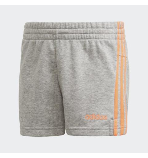 Short Adidas Niña 3 Bandas Essentials Gris