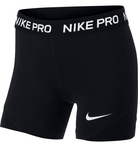 Malla Nike Corta Niña Pro Negra