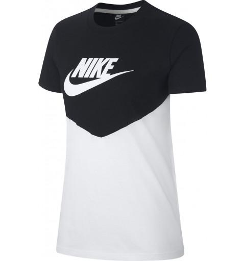 Camiseta Nike Mujer Nsw Heritage Negra-Blanca