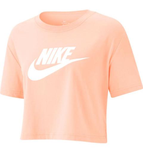 Camiseta Nike Mujer NSW Essentials Crop Rosa