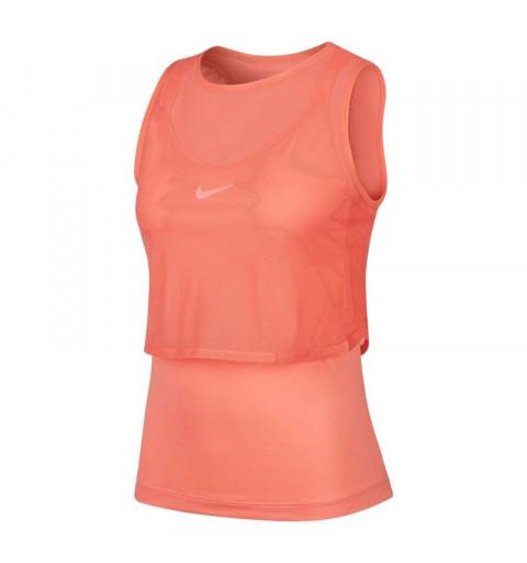 Camiseta Nike Mujer Asas Court Elevate Naranja
