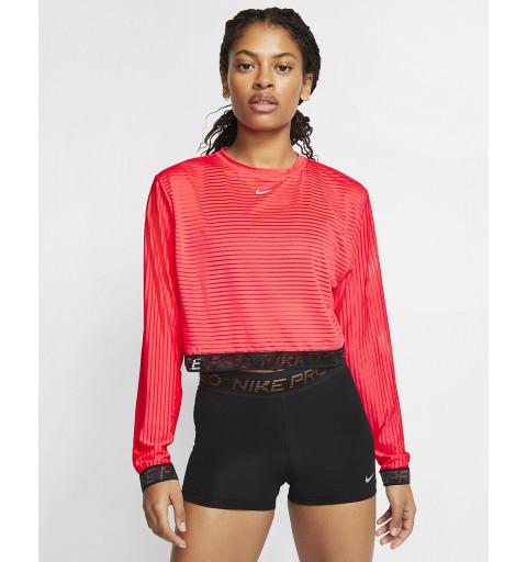 Camiseta Nike Mujer Pro Roja