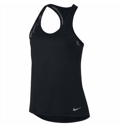 Camiseta Nike Mujer Tank Run Negra