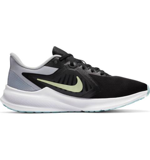 Nike Wmns Downshifter 10 Negra-Celeste