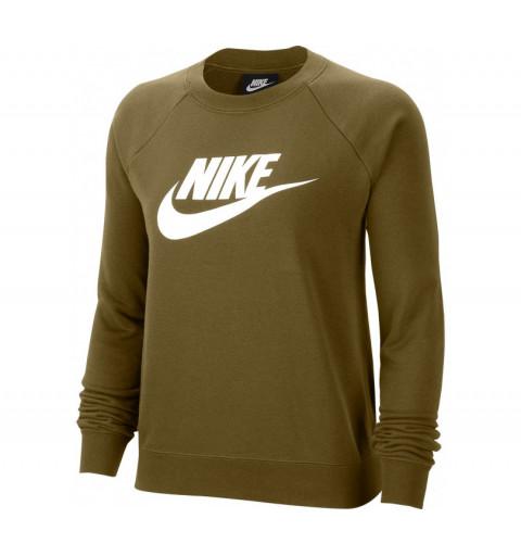 Sudadera Nike W NSW Essential Crew Fic Hbr Oliva