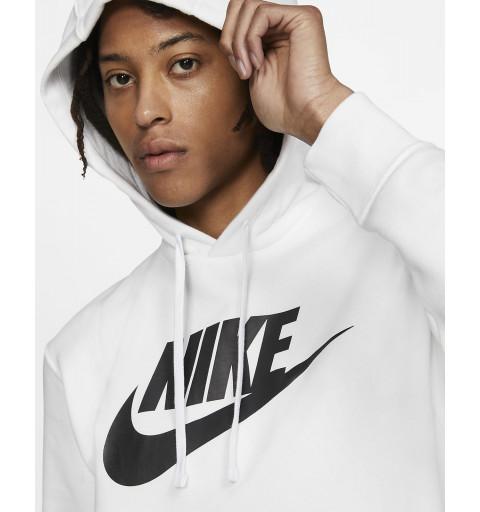 Sudadera Nike Hombre NSW Club Capucha Blanca