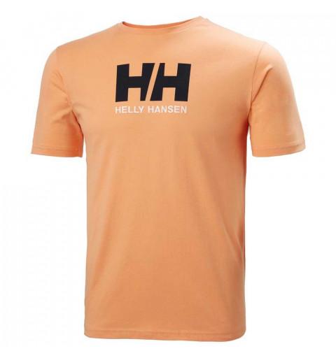 Camiseta Helly Hansen Logo Hombre Melón