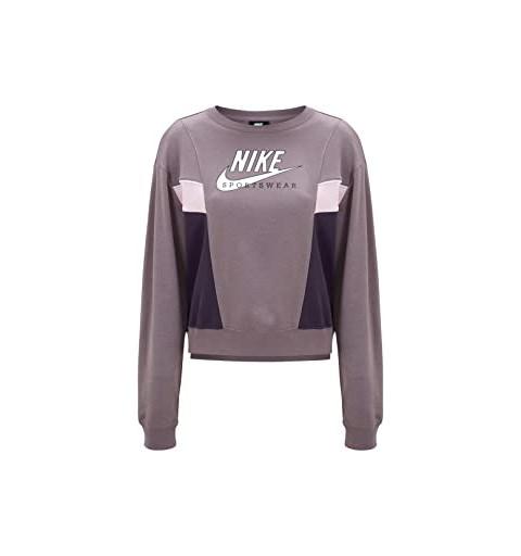Sudadera Nike Mujer Sportswear Heritage Malva
