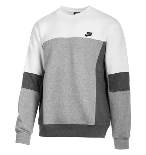 Sudadera Nike Hombre Sportswear Blanca/Gris