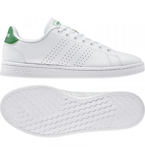 Zapatilla Adidas Hombre Advantage Blanca/Verde