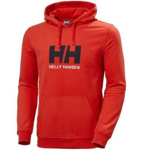 Sudadera Helly Hansen Capucha Logo Grande Roja