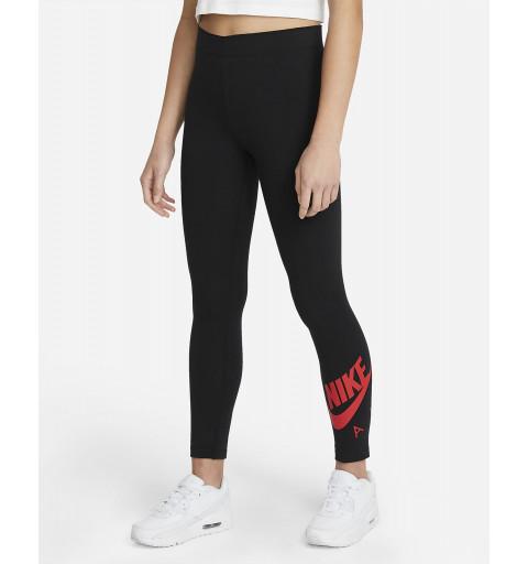 Leggins Nike Niña Air Favorites Negro/Rojo
