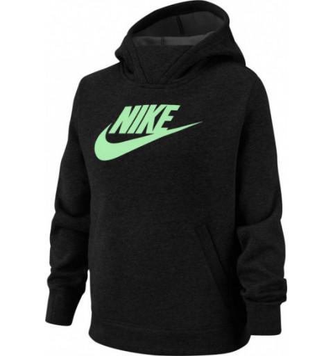 Sudadera Nike Niña Capucha Nsw Negra