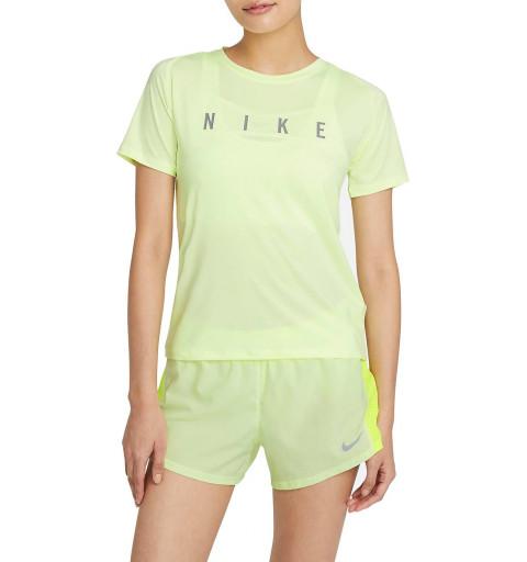 Camiseta Nike Mujer Run Division Miller Fluor
