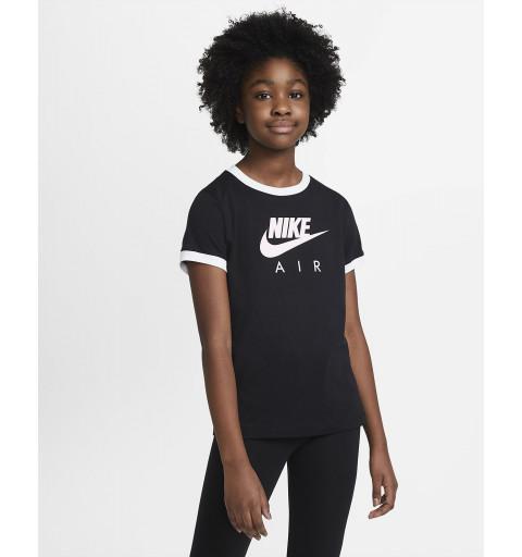 Camiseta Nike Niña Air Manga Corta Negra