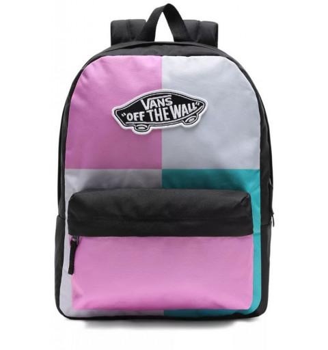 Vans Realm Backpack Black / Pink / Green VN0A3UI6ZG61