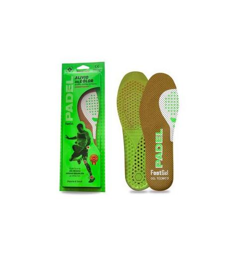 Plantilla Footgel Padel Eucalipto 39-42