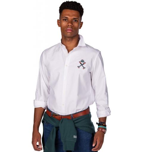 Camisa branca com o...
